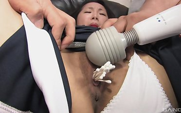 Asian slattern gangbang bondage porn with multiple partners
