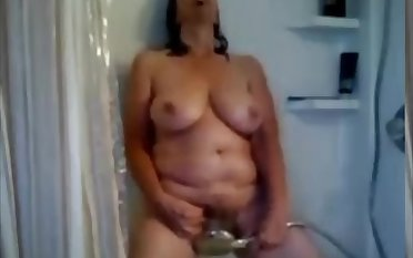 Mommy Cam Shower - Amazing Chunky GILF
