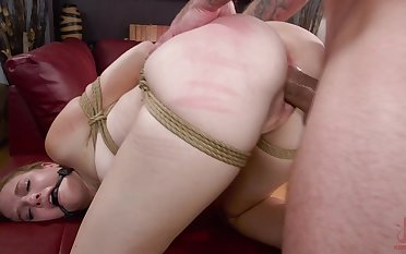 Cheating girlfriend Ashley Lane captured and punished wide of her BF