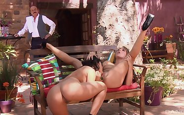 Nude public fruity sex with charming girls Lana Lopez and Ella Milano