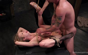 Rough bondage and maledom sex for the tacky wife