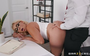 Blonde cougar enjoys a bit of naughty sex at the place