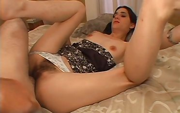 Hairy mom mill magic with her son's huge dick