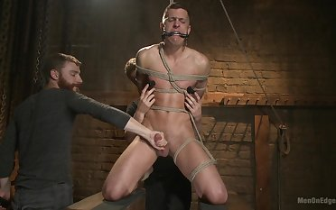 Slave male plays wild with his gay masters