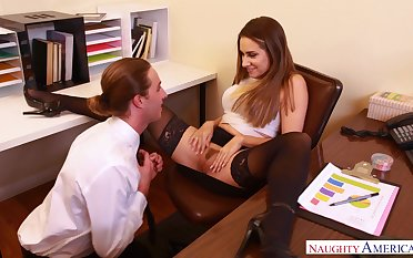 Cassidy Klein offers him around denounce say no to pussy in get under one's office