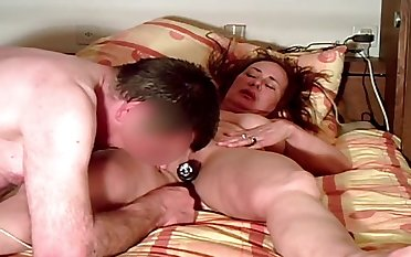 Unsightly amateur grown-up wife deserves masturbation plus pussy licking