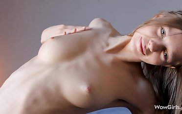 Teen Nymph Gloria Plays with the brush Delicious Pussy