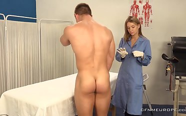 A heavy guy submits to prostate cross-examination and his sexy doctor wants to the feeling his ass