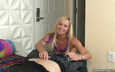 Seductive blonde fit together Dani Dare teases forth say no to nice hooters