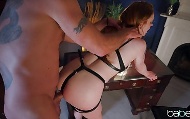 Sweet babe plays obedient be proper of her master increased by provides pure BDSM