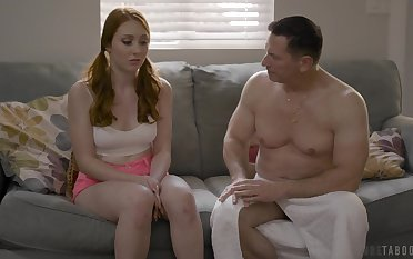 Old timer is fucking all holes of 19 yo virgin Arietta Adams and cums in her mouth