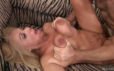 During hot sex, Dalny Marga's breast are squeezed, and her arse is licked