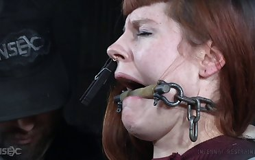 Amateur torture session not far from anal affectionate redhead Barbary Rose